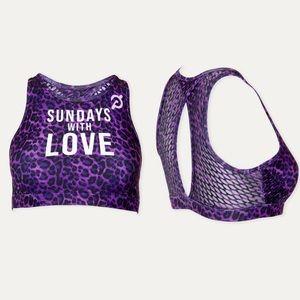 |Peloton| Sunday's With Love Sports Bra, M